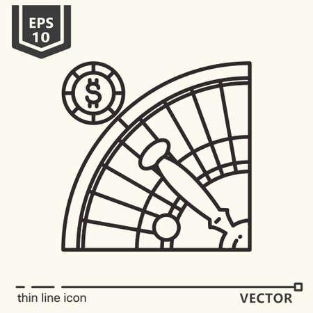 Casino theme. Vector single isolated icon. EPS 10 Stock Vector - 82031974