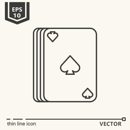 Casino theme. Vector single isolated icon. EPS 10 Stock Vector - 82031976