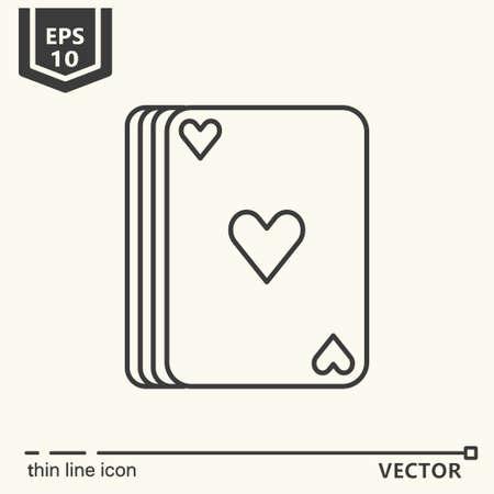 indication: Casino theme. Vector single isolated icon. EPS 10 Illustration