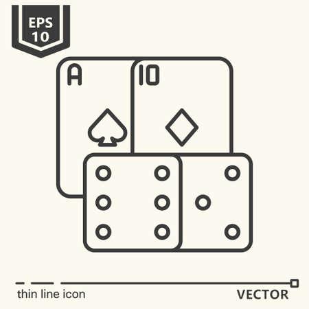 Casino theme. Vector single isolated icon. EPS 10 Stock Vector - 82031943
