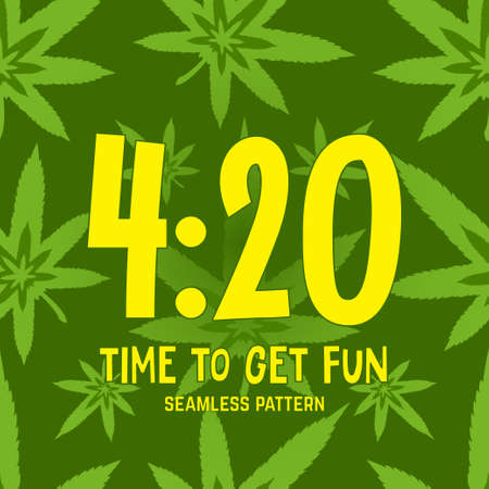 4:20 theme Vector seamless pattern EPS 10 Illustration