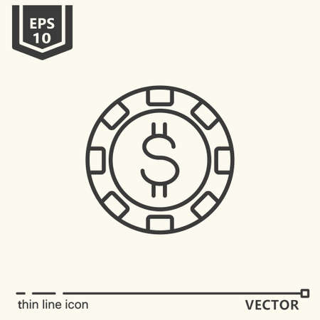 Casino theme. Vector single isolated icon.  Isolated object Illustration