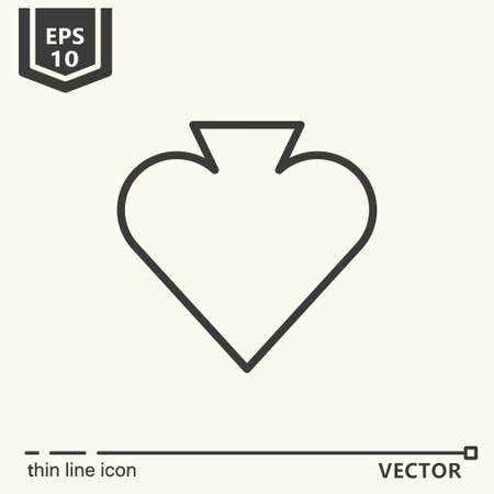 Casino theme. Vector single isolated icon. EPS 10. Isolated object