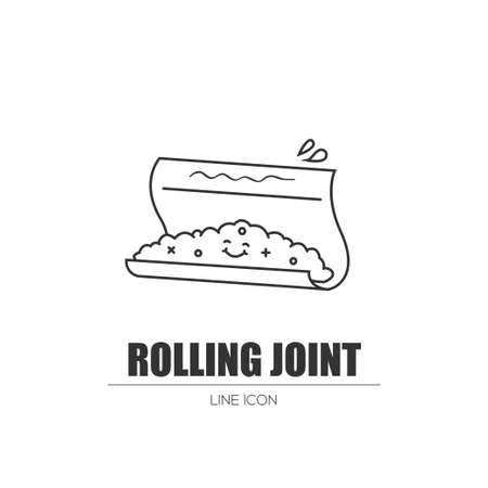 Rolling a joint. Stock Vector - 83235854