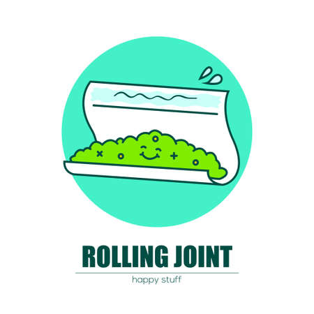 Rolling a joint. Illustration