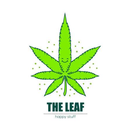Weed leaf.