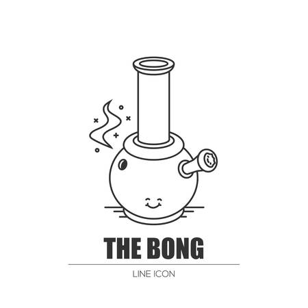 Weed bong. Illustration