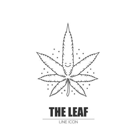 Weed leaf Stock Vector - 83235863
