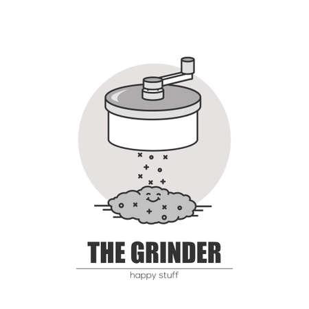 Weed grinder. Stock Vector - 83235867