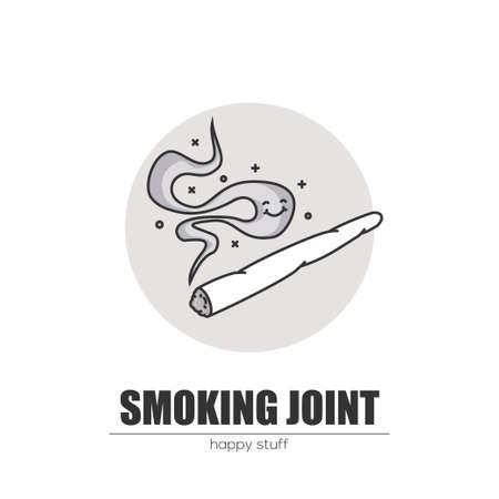Smoking a joint Illustration