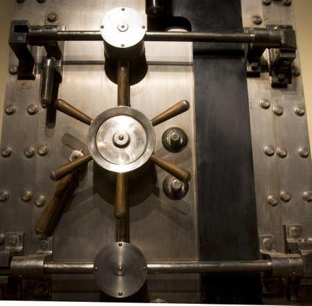 secure: Door of a bank Vault Stock Photo