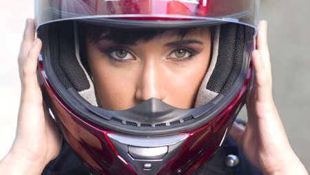 motorrad frau: Mädchen auf Motorrad Lizenzfreie Bilder