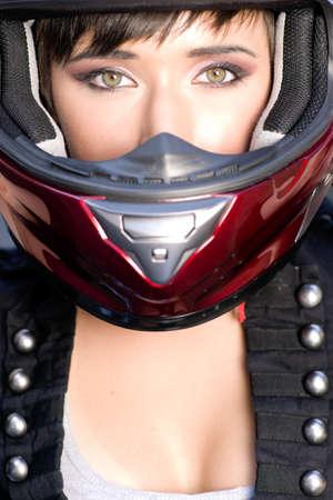Girl on Motorcycle Stock Photo - 14500826
