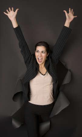Woman feels Break Through Performance Stock Photo - 14593313