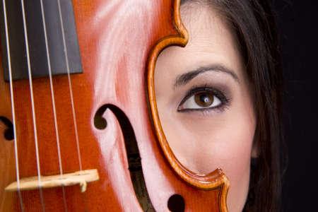 woman violin: A Woman
