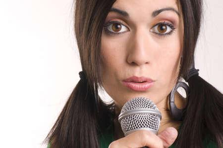 Pretty Vocalist Stock Photo - 14669305