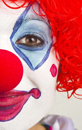 Woman Clown Performer Close up just half