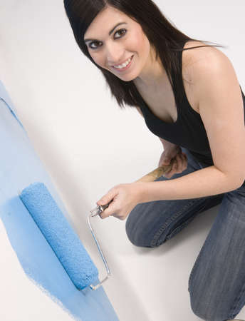 A new Mom paints the boys room blue photo