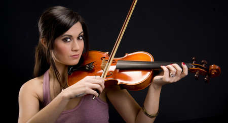 This woman is serious about music Stock Photo - 14669043