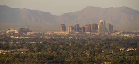 sonoran desert: Phoenix Arizona Skyline