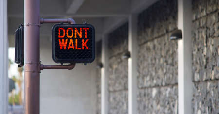 dont walk: Dont Walk sign in the city Stock Photo