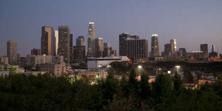 Los Angeles Skyline at Dusk photo