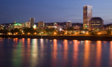 Portland Oregon across the Willamette River