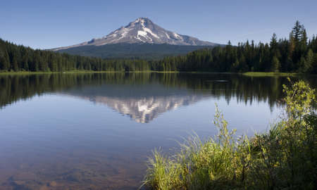 Mountain Lake called Trillium near Mount Hood photo