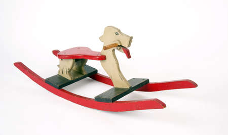 Home Made Wooden Rocking Dog Horse