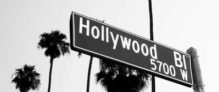 north hollywood: Hollywood Blvd Sign in Los Angeles California Stock Photo
