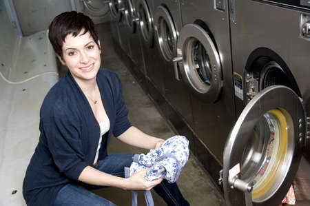 She does laundry with a smile photo