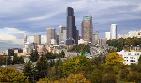 super highway: Seattle on a crisp fall day