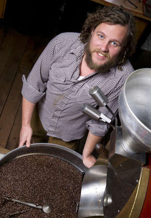 A coffee roaster keeps the beans coming