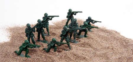 batallón: Clásicos juguetes para niños imitan la vida moderna Foto de archivo