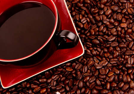 Coffee sitting in the Beans that made it.