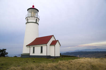blanco: Cape Blanco Lighthouse in Oregon on the Pacific Ocean
