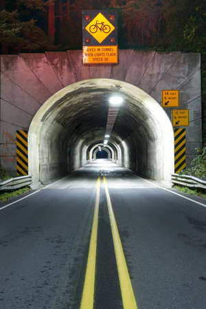 Tunnel on highway 101 in Oregon photo