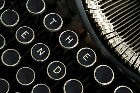 Custom message on a vintage typewriter keyboard