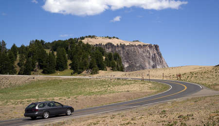 Station Wagon on the Road in Western United States Stock Photo - 18154450