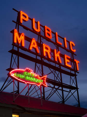 The Public Market in Seattle is a great place to buy items and visit photo