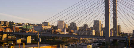 Architecture of the 509 bridge in front of Tacoma WA