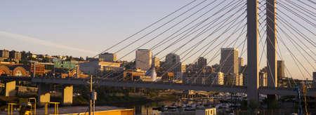 tacoma: Architecture of the 509 bridge in front of Tacoma WA