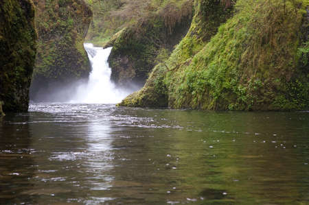 Portland Oregon and Punch Bowl Falls Waterfall photo