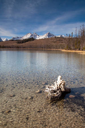 Mountain Reflection in smooth lake water Landscape mountain range photo
