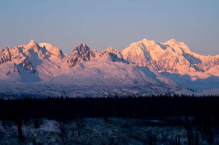High alpine peaks in the land of the midnight sun photo