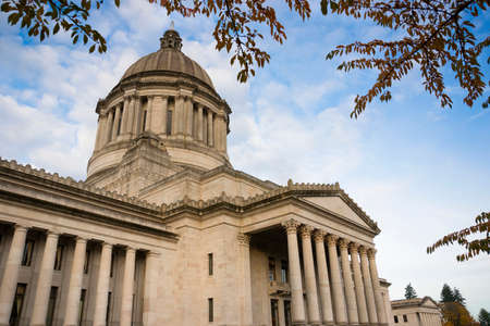 washington landscape: Legislature buildings and capital dome in Olympia Stock Photo