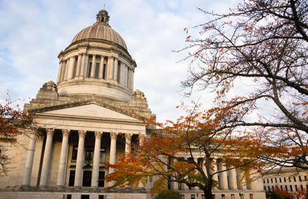 washington state: Legislature buildings and capital dome in Olympia Stock Photo