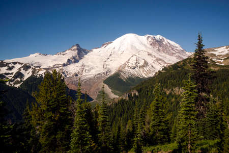 cascade range: View of Mount Rainier from Burroughs Mountain Cascade Range