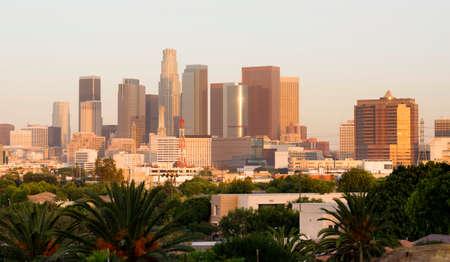 Los Angeles California Sunrise on Downtown Reklamní fotografie