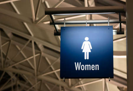 The Sign for Ladies Lavatory Women's Bathroom in a Public Building Business Place Stock Photo - 23578006